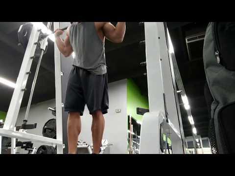 Wide stance Smith machine squat