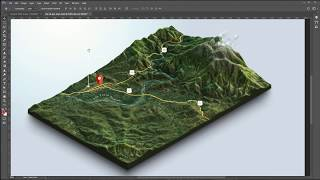 From Google Maps And Heightmaps To 3D Terrain   3D Map Generator Terrain   Photoshop