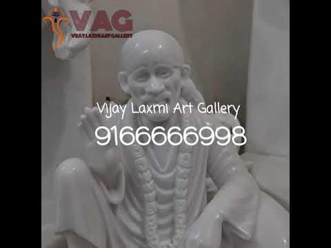White Marble Dwarkamai sai Baba Statue