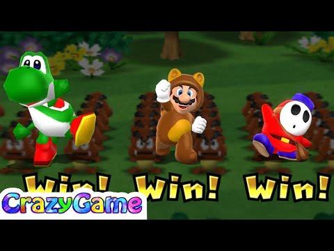 Mario Party 9 High Rollers - Mario vs Luigi vs King Bob-omb Gameplay