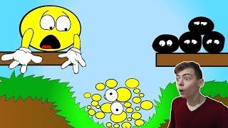 ПУЗЫРЬ плюс пузырь Острые ШИПЫ и Колючки ЛОПАЮТ Желтые пузырики игра для ДЕТЕЙ на GAMES FACTORY