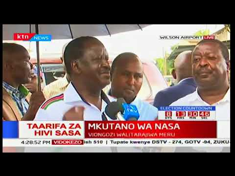 Raila Odinga doesn't mince his words when he says there will be no elections