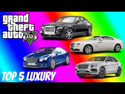 Top 5 Luxury Cars In Grand Theft Auto 5