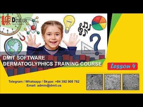 Dermatoglyphics training course | Lesson 4: The concept of ...