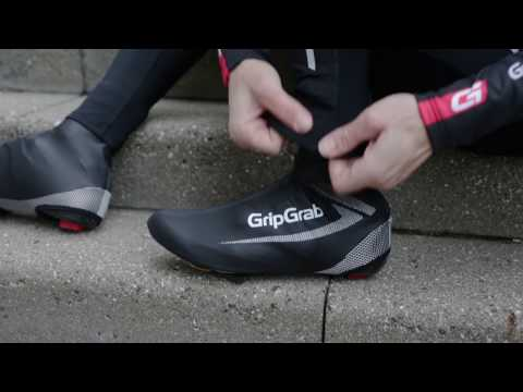 GripGrab Race Thermo Hi-Vis skoovertræk video
