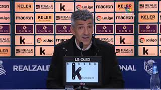 Rueda de prensa Real Sociedad vs RC Celta