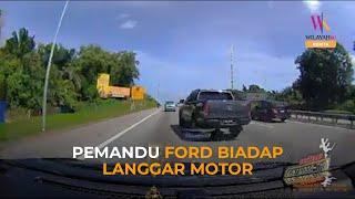 Polis kesan pemandu Ford Ranger biadab