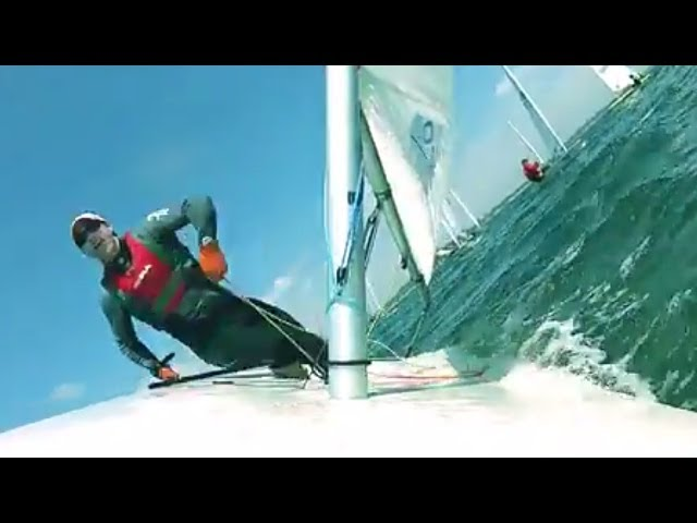 Laser Sailing - Racing Ride Along With Andrew Scrivan 2 - [HD]