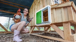 Upgrading Our Backyard Chicken Coop | AUTOMATIC DOOR TOUR!