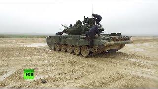 Минобороны России опубликовало видео работы экипажа танка Т-90