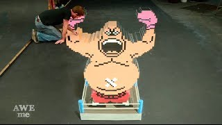 King Hippo (Mike Tyson's Punch-Out!!) 3D Chalk Art - AWE me Artist Series