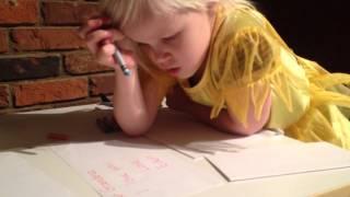 Writing cards to grandma.