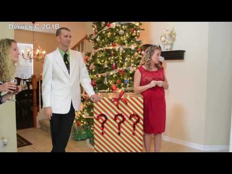 Christmas Gender Reveal Ideas.Triplets Gender Reveal The Bump