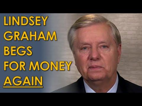 Lindsey Graham BEGS AGAIN for Fundraising money on Fox News as Jaime Harrison CRUSHES him