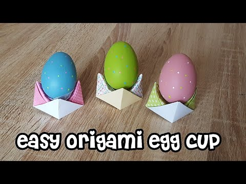Einfache Origami-Eierbecher/ Easy Origami Egg Cup