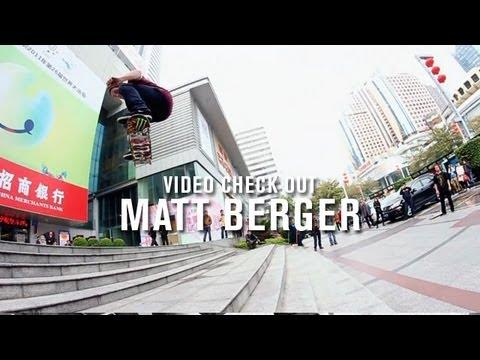 Video Check Out Matt Berger - TransWorld SKATEboarding