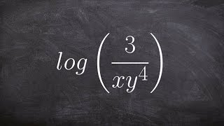 Using the properties of logarithms to help you expand a logarithmic expression