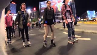 preview picture of video 'Nightskating Warsaw 24.04.2014'