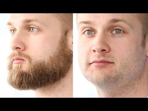 full beard shaved
