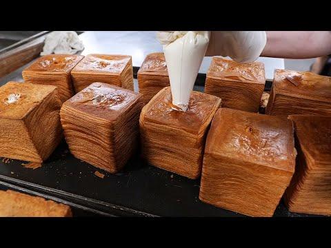 생크림이 듬뿍! 72겹 생크림 식빵 / 72-ply whipping cream bread / korean food