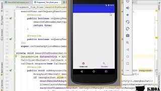 Bài 64: Đọc dữ liệu và gán lên giao diện cho phần tìm kiếm