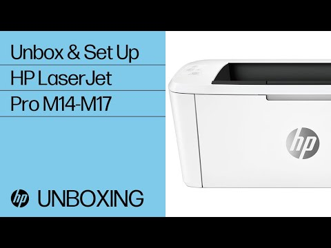 How to Unbox and Setup HP LaserJet Pro M14-M17 Printers