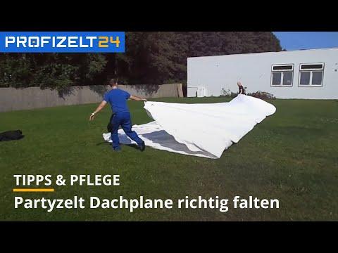 Anleitung: Partyzelt Dachplane richtig zusammenlegen