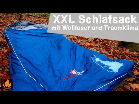 Grüezi Bag Murmeltier - XXL Schlafsack mit Wollfaser und Traumklima - Bushcraft Outdoor Ausrüstung