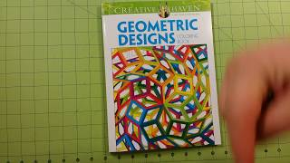 The Geometric Designs Coloring Book Review Flip Through Dover Creative Haven