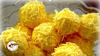 Закуска на скорую руку. Сырные шарики с курицей. Быстро, просто и вкусно!