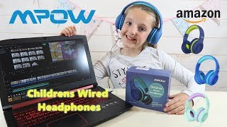 MPOW KIDS SAFE COMFORT HEADPHONES UNBOXING #GIFTED