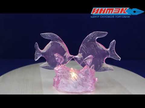 """Статуэтка со световыми эффектами """"Рыбки"""" Арт.AXF061416"""