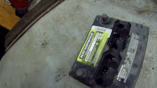 Typical frozen battery  – wonder if it will live again?