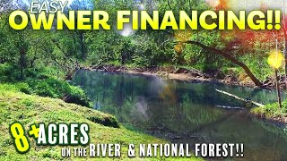 (full video) $500 down for 8+ acres on river AND National Forest in the Ozarks - NF08