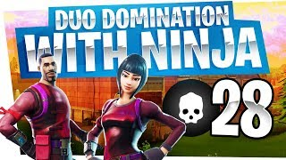 28 Kill Duo Domination with Ninja - Fortnite Battle Royale Gameplay