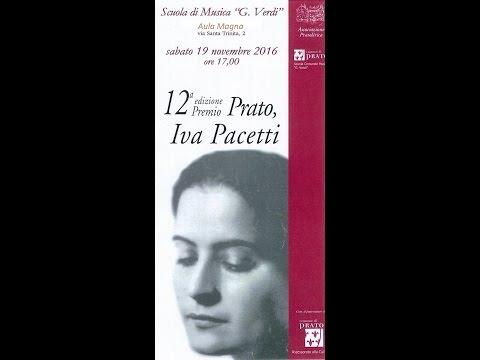 Preview video 12a edizione premio Prato, Iva Pacetti  19/11/2016