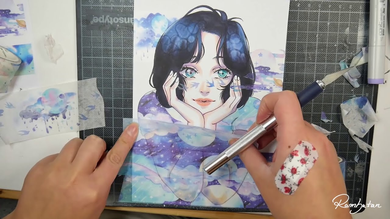 drawing with the magical power of washi tape by rambutan illustration