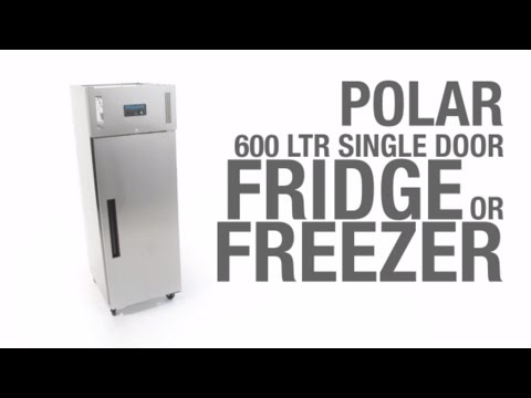 Video Polar RVS koelkast - 600 liter - G592