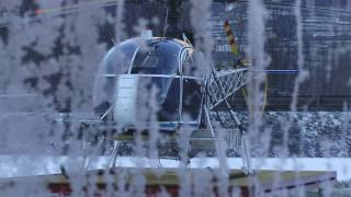preview picture of video 'ELICOTTERI Valcamonica_ Helicopter sling logging works Eurocopter SA315 Lama flights'