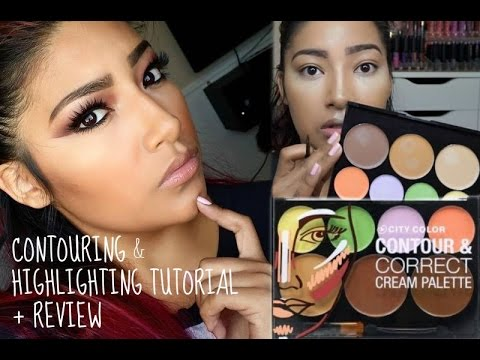 CITY COLOR COSMETICS COLOR CORRECT CONTOUR CREAM PALETTE TUTORIAL +  REVIEW