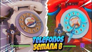 LLAMA A DURRR BURGER CON EL GRAN TELEFONO AL OESTE DE TERRENO TORMENTOSO | Semana 8 Fortnite