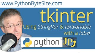 Using StringVar and textvariable with a Python tkinter label