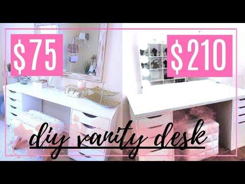 DIY IKEA VANITY DESK DUPE!! + ORGANIZATION IDEAS
