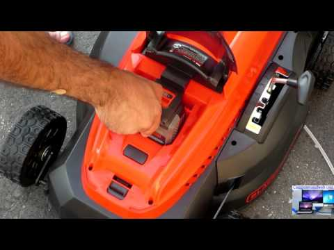 Black and Decker Cordless Battery Lawn Mower CM1640 Li-Ion 16 inch