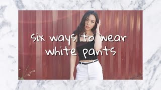 6 ways to wear white pants this summer ~ How To Wear White Pants