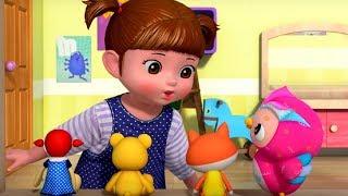 Уборка игрушек  - Консуни песенка 3 -  Clean Up Song - Kids Cartoon