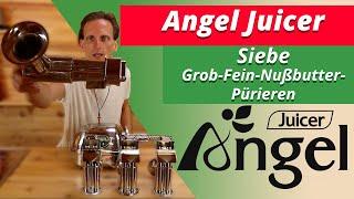 Angel Juicer Siebe - Grobes Sieb - Blank Sieb - Feines Sieb - Pürier Sieb