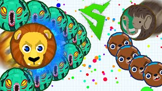 INSANE AGARIO SERVER DOMINATION WITH REAL SIRIUS // Agar.io Splitrunning