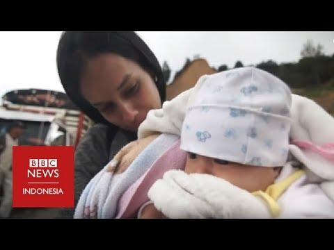 Krisis Venezuela: Hamil delapan bulan dan harus berjalan 2000 km