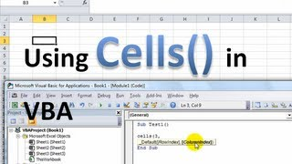 Excel VBA Basics #2 - Using the Cells object with and without range object, named ranges